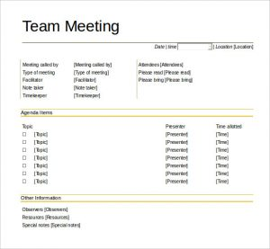 team meeting agenda template download team meeting agenda template printable