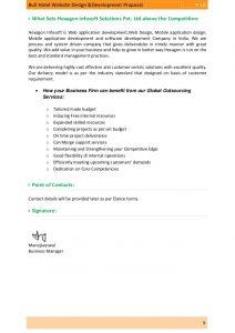 technical proposal template proposal bull hotel website design development