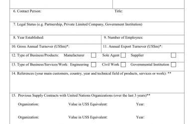 technical report formats company profile form products