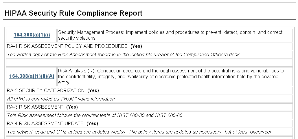 technical reporting format