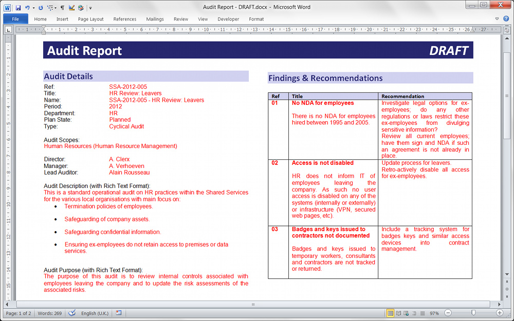Technical Reports Format | Template Business