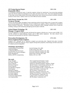 technical resume template clean project engineer resume l