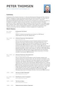 technical resume template enterprisearchitectresume example
