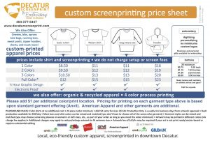 tee shirt order form decsp price sheet front and