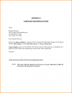 template business letter transmittal letter template