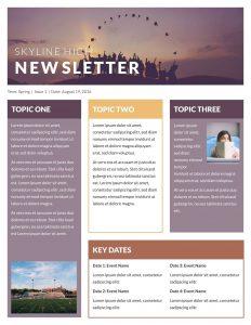 template for newsletter newsletter classroom@x