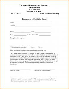 temporary custody agreement temporary guardianship agreement