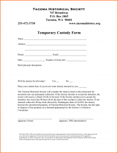 temporary guardianship agreement form temporary guardianship agreement