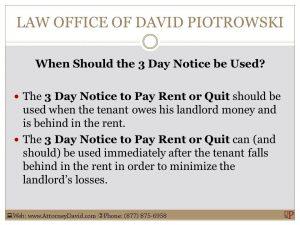 tenant eviction notice slide