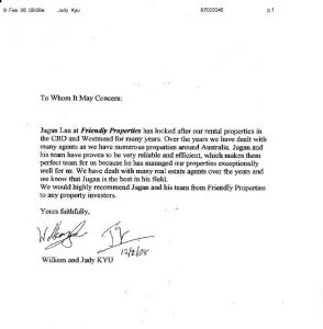 tenant reference letter