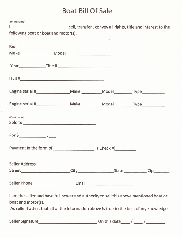 tennessee boat bill of sale
