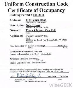 termination letter california certificate of occupancy