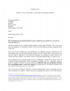 termination of contract letter business contract termination letter template