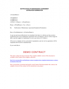 termination of contract letter contract termination letter