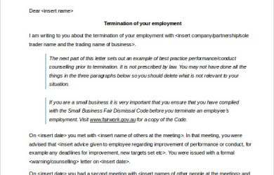 termination of contract letter download employment contract termination letter template