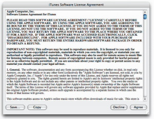terms of agreement apple itunes tos redesign before
