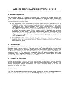terms of agreement website service agreement terms of use template sample form for terms of service template