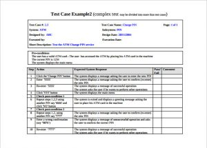 test cases example comples test case template with example pdf format