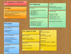 test strategy template example test strategy