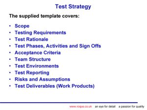 test strategy template tips and templates for test managers