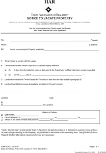 texas eviction notice form texas eviction notice template