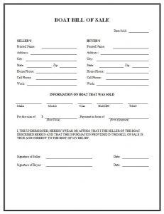 texas firearm bill of sale boat bill of sale