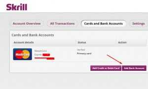 thank you card for money add bank account skrill