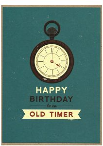 thank you card for money happy birthday old timer