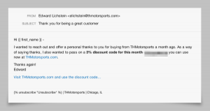thank you email after interview subject line thmotorsports thank you email content