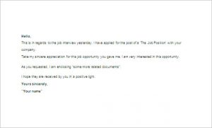 thank you for interview email after interview thank you email word free download
