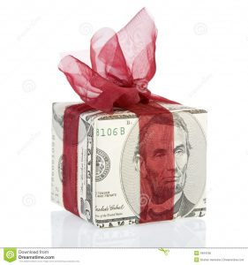thank you for money gift money gift box dollar