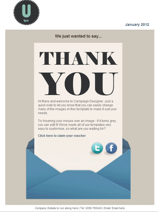 thank you for your business email