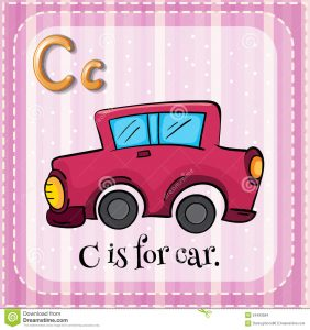 thank you for your business letter letter c flashcard car