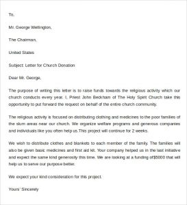 thank you letter for donation of money sample donation letter format example