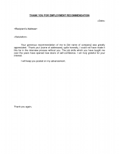 thank you letter for recommendation thank you note recommendation letters