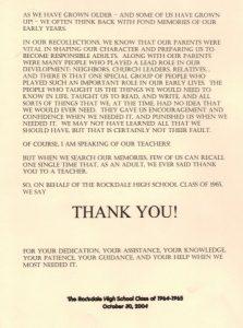 thank you letter to teacher th reunion teacher thank you