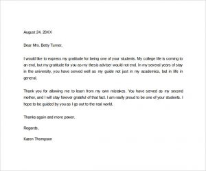 thank you letter to teacher sample thank you letter to a teacher