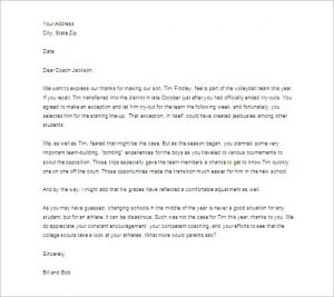 thank you letter to teacher thank you letter to teacher from parent