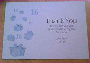 thank you note for gift thank you note for birthday gift card