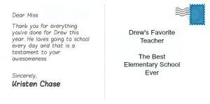 thank you note to preschool teacher thankateacher