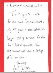 thank you note to preschool teacher tycard a