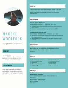 theatre resume example canva blue creative resume maciigndxg