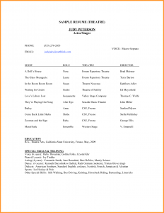 theatre resume template theatre resume example acting resumes templates theatre resume template google docs