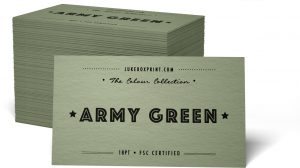 thick business cards army green colored business cards