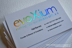 thick business cards holographic foil card