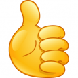 thumbs up emoji text thumb up