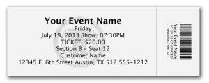 ticket stub template ticket stub template