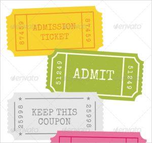 ticket stub template admission ticket stub template