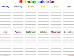 time schedules templates birthday calendars free printable word templates abry