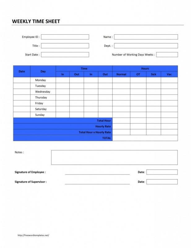 time sheets template